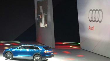 Audi e-Tron Quattro Concept at VW preview night