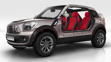 """<p class=""""p1""""><span class=""""s1"""">2009 <b>MINI Beachcomber concept</b></span></p>  <p class=""""p1""""><span class=""""s1"""">""""We knew we were entering the world of four-wheel-drive vehicles – so it </span><span class=""""s2"""">gave us the opportunity t"""