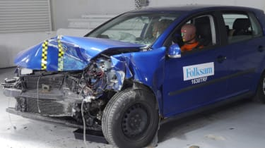 Rusty NCAP-style test massive damage