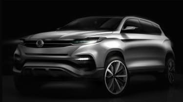 SsangYong Rexton 2017 sketch front