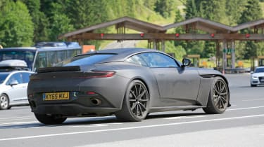 Aston Martin DB11 S spies side rear