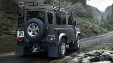 Land Rover Defender front three-quarters