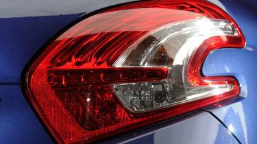Peugeot 208 rear light detail