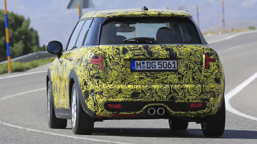 Mini Cooper hatch five-door spied