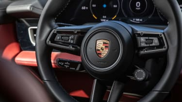 Porsche Taycan 4S - steering wheel detail