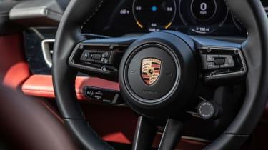 Porsche Taycan 4S - steering wheel detail