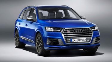 Audi SQ7 blue - front quarter 2