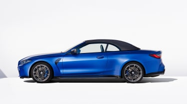 BMW M4 Competition Convertible - side roof up