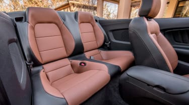 Ford Mustang EcoBoost Convertible - rear seats