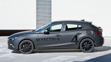 Mazda 3 Skyactiv-X prototype - side