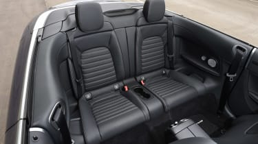 Mercedes C-Class Cabriolet - rear seats