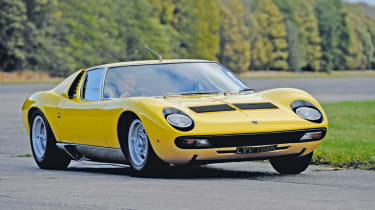 The gorgeous Lamborghini Miura was the fastest car in the world when it arrived in 1966.