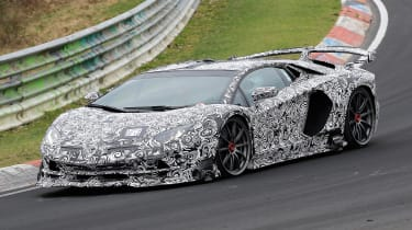 Lamborghini Aventador SVJ - spyshot side