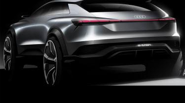 Audi Q4 e-tron concept - rear sketch