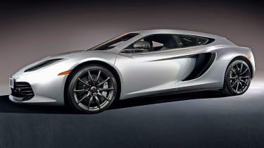McLaren estate front three-quarters