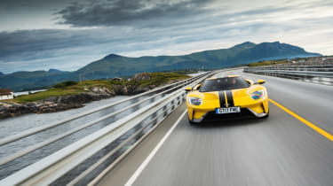 Ford GT Norway road trip - front tracking