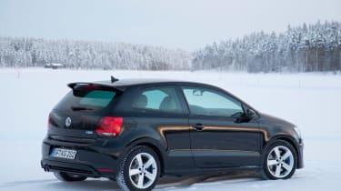 Volkswagen Polo R black static rear