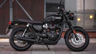 Triumph Bonneville T120 review - black side profile