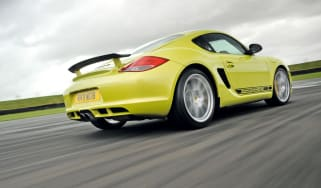 Porsche Cayman R rear cornering