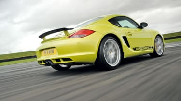 Porsche Cayman R rear cornering