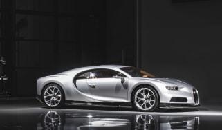Bugatti Chiron silver side on