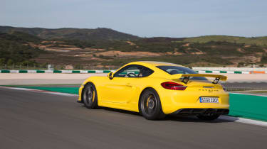 Porsche Cayman GT4 - rear driving