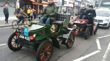 London to Brighton Veteran Car Run  -  Steve in Vauxhall front