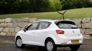"""<span>SEAT probably put a lot of thought into its wind turbine-equipped&nbsp;</span><a href=""""https://www.autoexpress.co.uk/seat/ibiza/17943/seat-ibiza-ecomotive"""">Ibiza Ecomotive</a><span>&nbsp;April Fools' effort in 2009 but little did"""