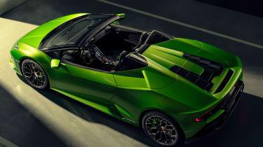 Lamborghini Huracan Evo Spyder - above