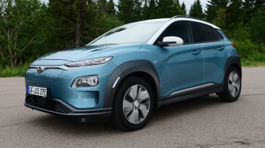 Hyundai Kona electric static front quarter