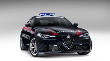 Alfa Romeo Giulia - Police car front three quarter