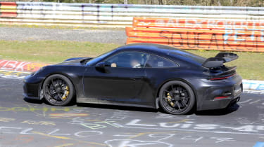 Porsche 911 GT3 spy - side