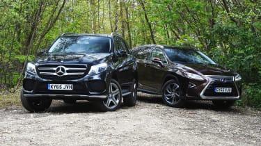 Mercedes GLE vs Lexus RX - side-by-side