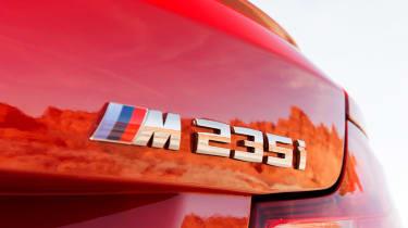 BMW M235i 2014 badge