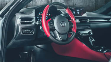 Toyota Supra - red dash