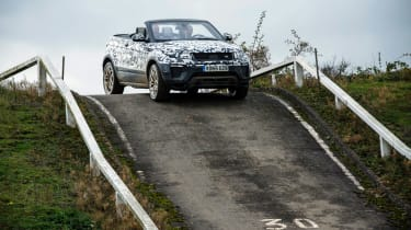 Range Rover Evoque Convertible passenger ride hill