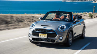 MINI Cooper S Convertible 2016 review - front tracking 2