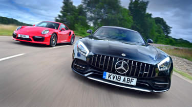 Mercedes-AMG GT C vs Porsche 911 Turbo - header