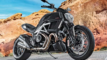 Ducati Diavel review - front quarter parked