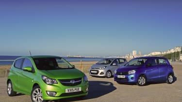 Vauxhall Viva vs Hyundai i10 vs Suzuki Celerio