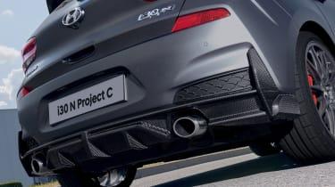Hyundai i30 N Project C - rear diffuser