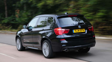 BMW X3 rear driving