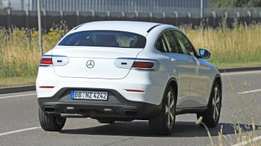 Mercedes GLC Coupe spied - rear