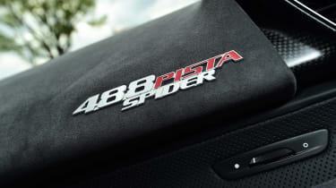 Ferrari 488 Pista Spider - interior detail