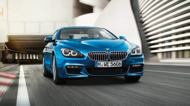 BMW 6 Series blue front