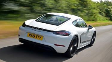 Porsche 718 Cayman T - rear tracking