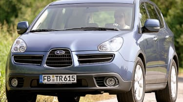 "<span class=""s3"">The Subaru Tribeca.</span><strong><span class=""s3"">&nbsp;</span></strong><span class=""s2"">Why not? If you can live with the design, the Tribeca has decent tech and costs from £5,500.</span>"