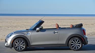 MINI Cooper S Convertible 2016 review - roof opening 1