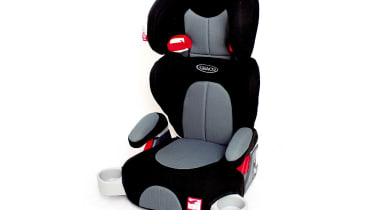 Convertible seats: Graco Junior Plus/Logico Rallysport £50/£70Good value Junior Plus has a reclining backrest and moving padded head and armrests. Its base is identical to the Booster. Rallysport (image) adds higher-quality