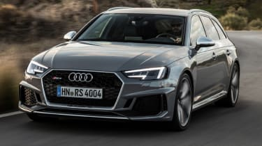 Audi RS4 2018 review - grey front